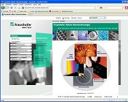 Homepage Fraunhofer Allianz Nanotechnologie